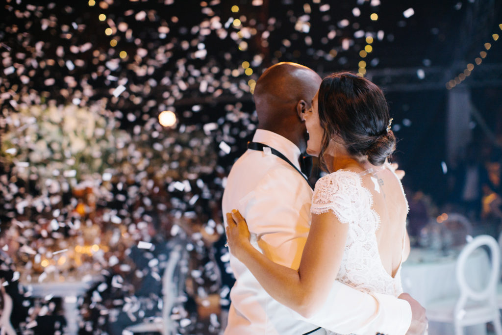 Destination wedding bride and groom first dance at casa de campo dominican republice