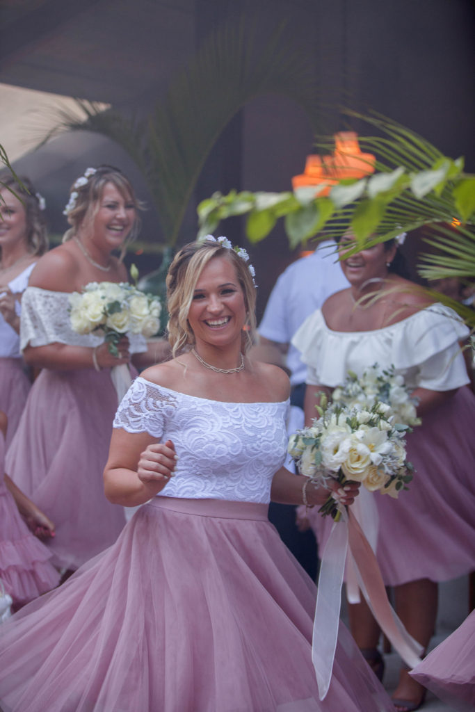 tulum bridesmaids in pink