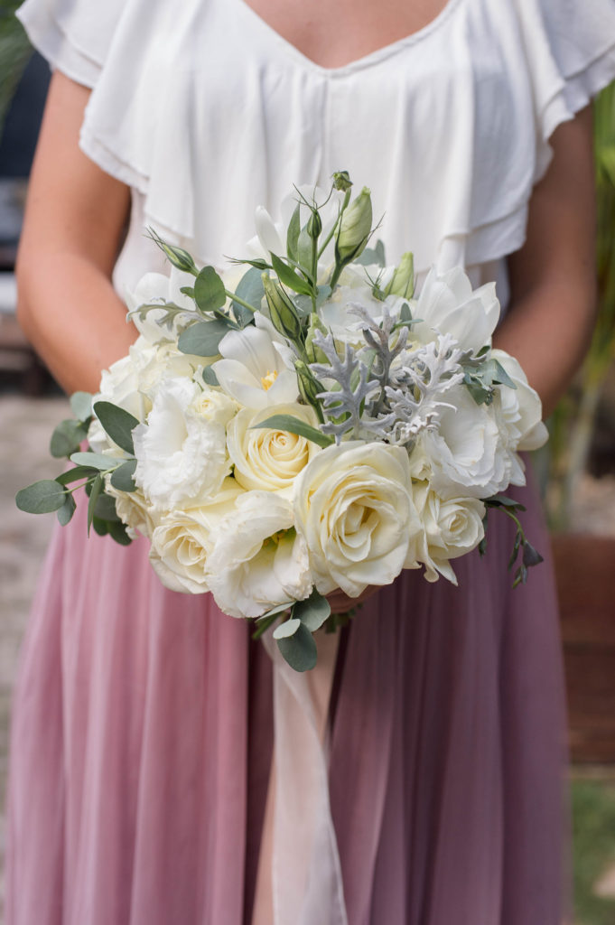 white small bridesmaids bouquet