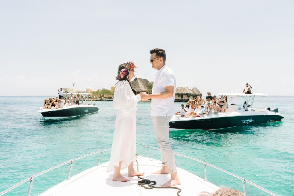 wedding in the middle of the sea